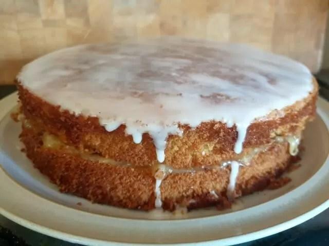 Lemon hot milk cake