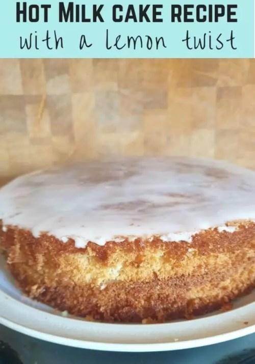 Old fashioned hot milk cake recipe