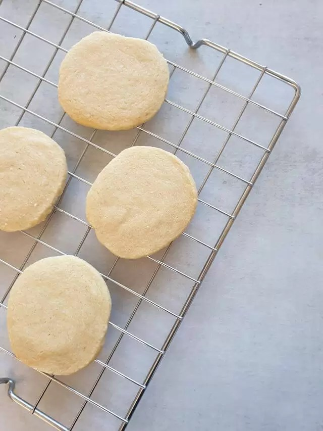 all butter biscuits on wire cooling rack