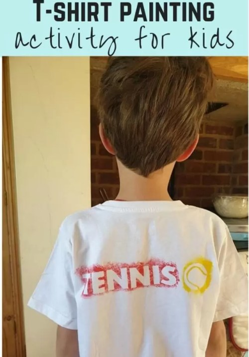 tennis themed paint masked t shirt