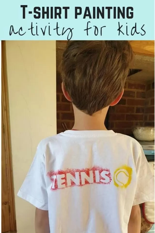 tennis themed paint masked t shirt
