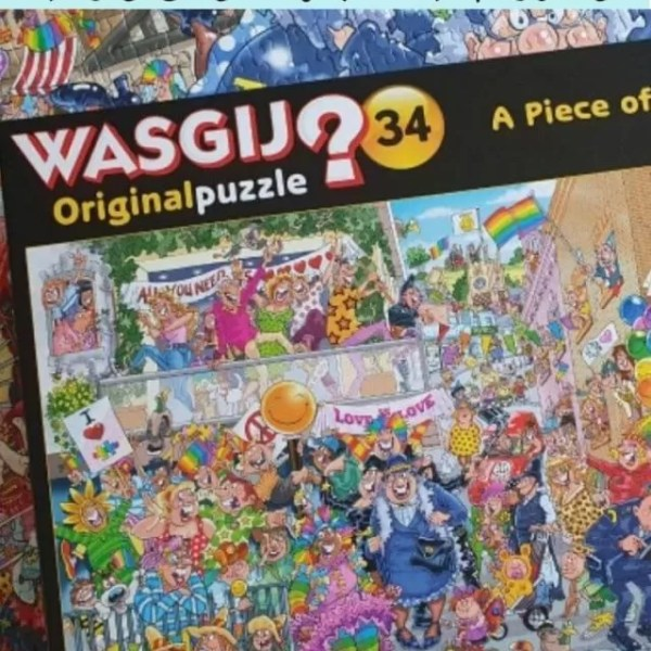 Wasgij Original 34 –  Piece of Pride puzzle solution