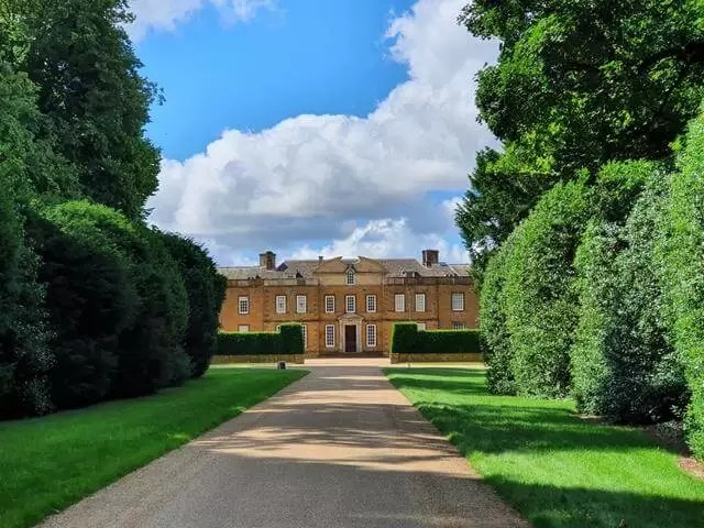 view of upton house down the drive
