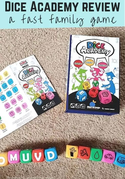 Fast paced family game Dice Academy