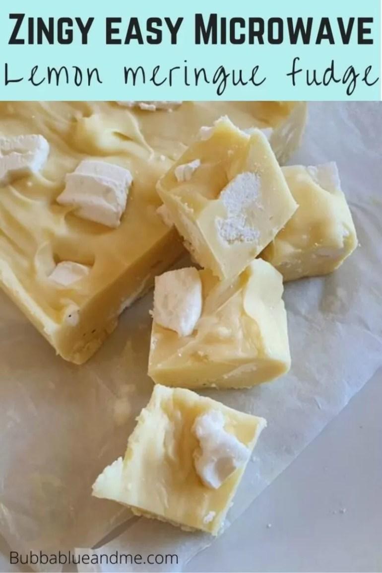 easy zingy lemon meringue fudge