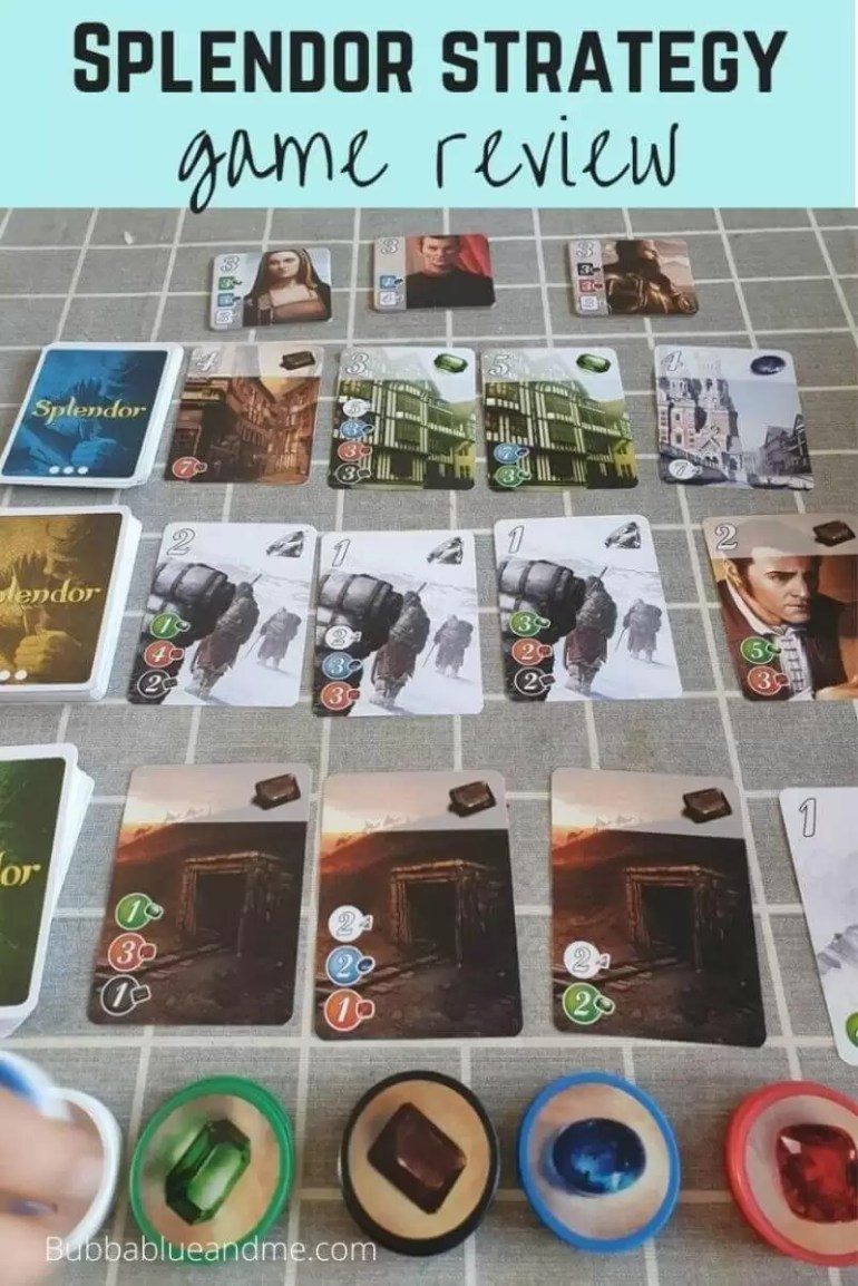 Splendor game review with card set up