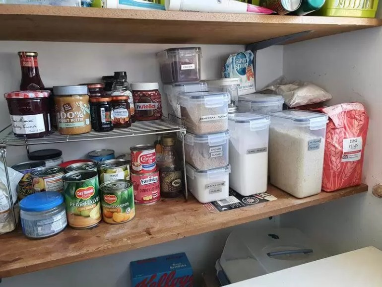 baking and preserves shelf