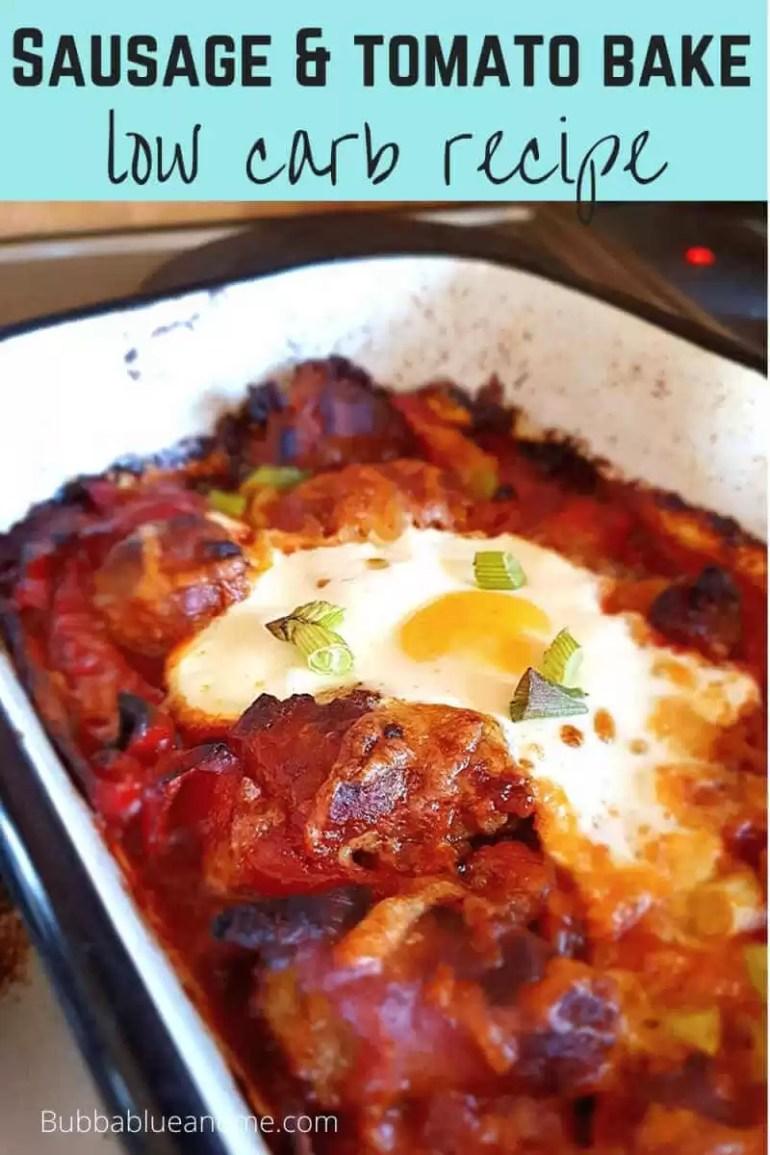 sausage & tomato bake low carb recipe