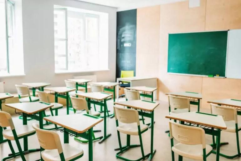 school room with desks