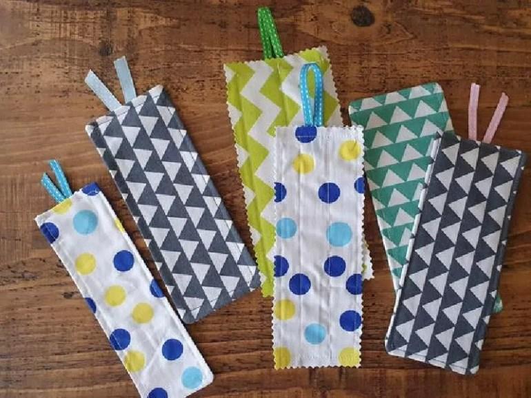 4 homemade bookmarks.