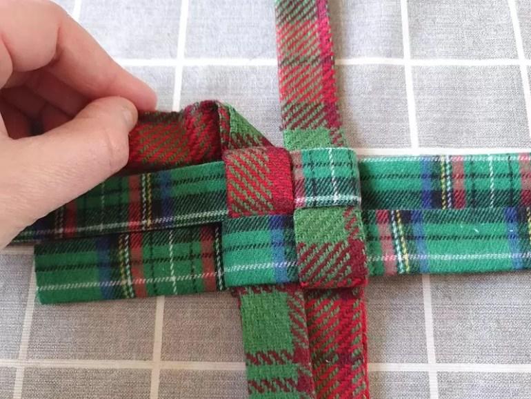 fold length to a triangle