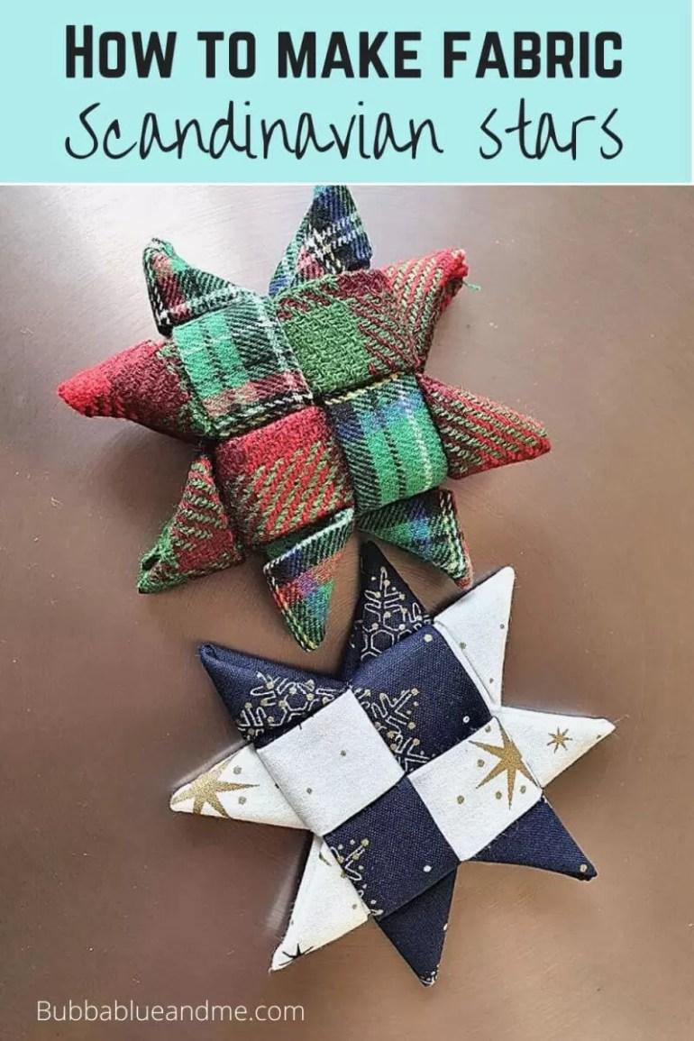 how to make fabric scandinavian stars