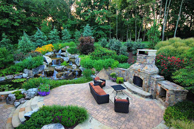 beautiful natural landscape backyard