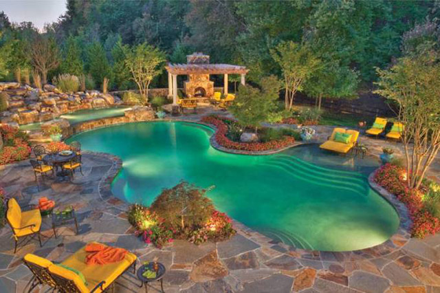 Awesome Bakcyard Landscaping Ideas Small Backyard Swimming Pool