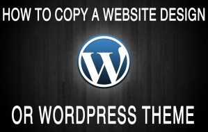 Copy a Website Design or Wordpress Theme