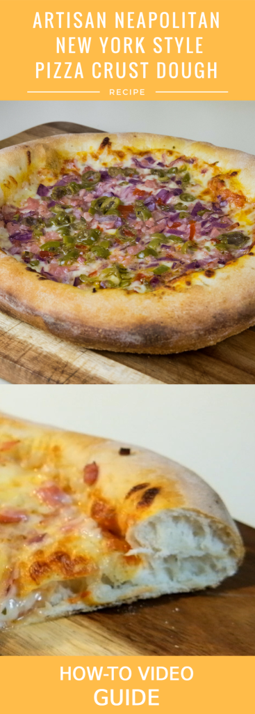 Artisan Neapolitan New York Style Pizza Dough Crust Recipe Pinterest Pin