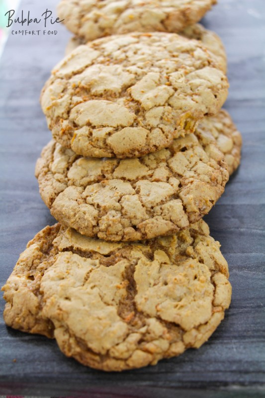 this easy carrot cake cookie recipe looks great when they are all finished