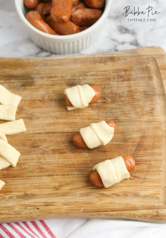 you can also make your pigs in a blanket with cheese