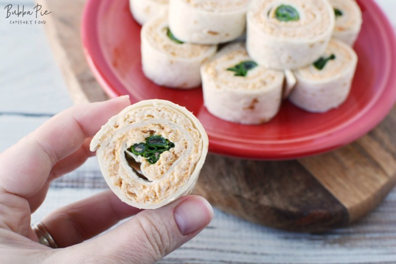 Buffalo Chicken Pinwheels is a great appetizer or gameday food