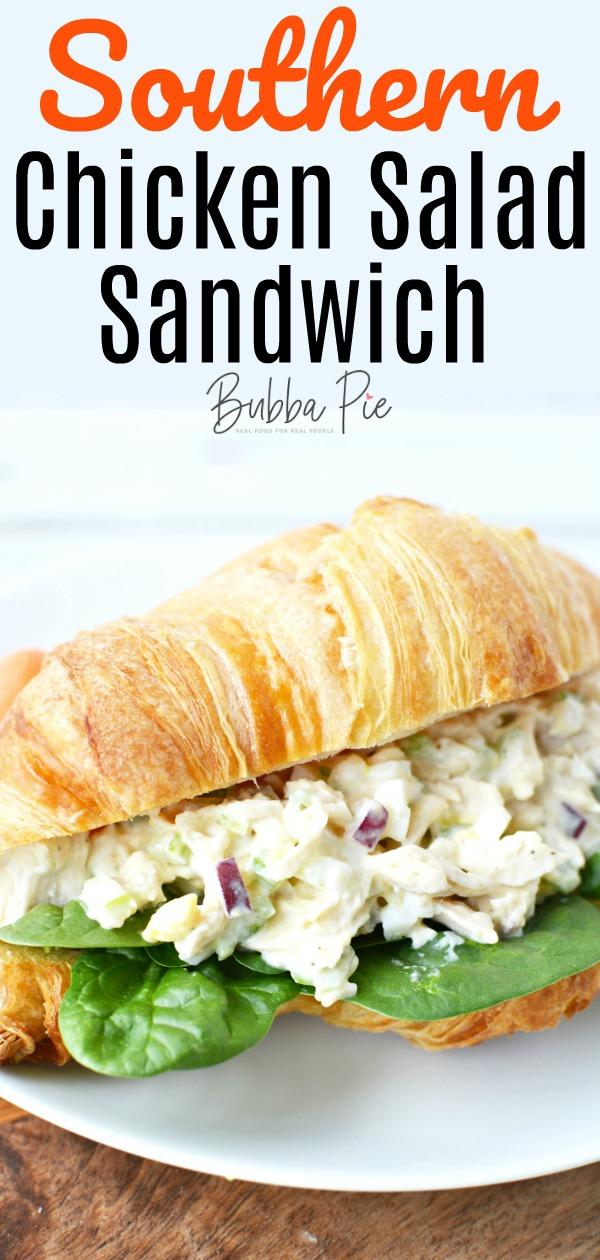 Southern Chicken Salad Sandwich Pin
