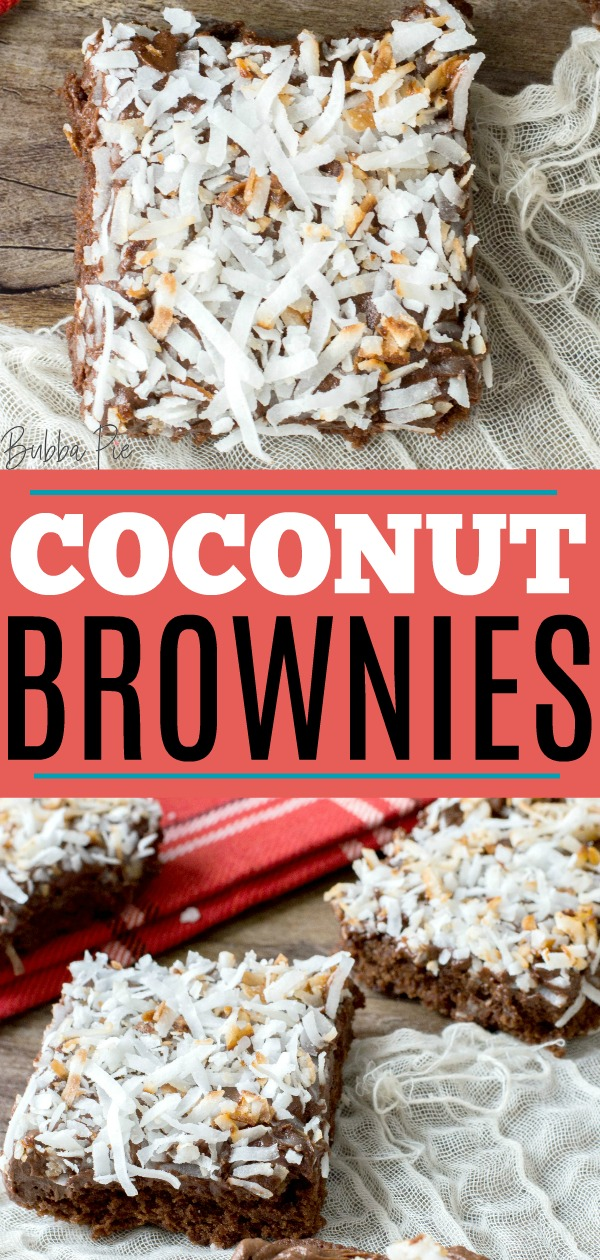 coconut brownie pin