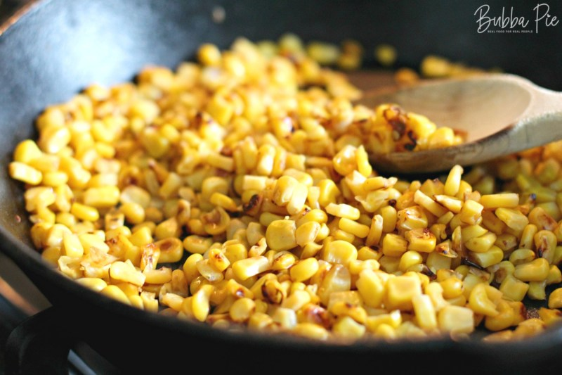 mexican corn salad is made with roasted corn or elote