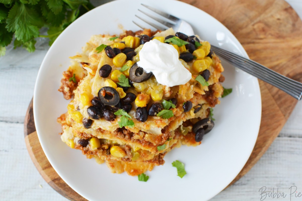 Crockpot Mexican Casserole is perfect for potlucks and pitch-ins