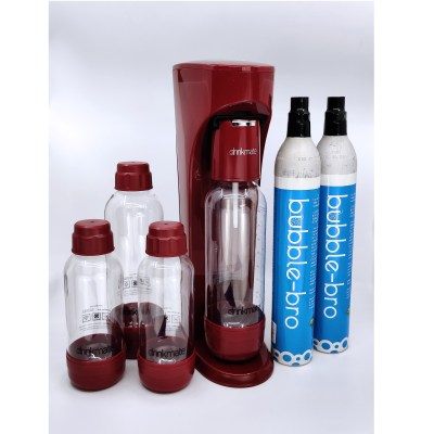 bubble-bro - picture of red home soda maker family pack