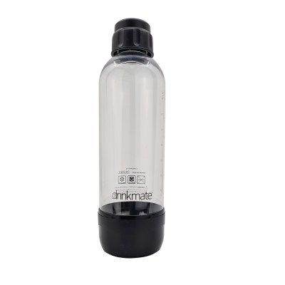 bubble-bro - picture of Black large Drinkmate bottle with cap on