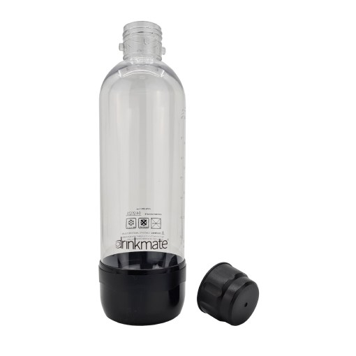 bubble-bro - picture of Black large Drinkmate bottle with cap off