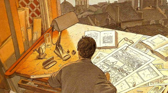 Illustration de l'article Les coulisses du 9e art : dessinateur portrait robot