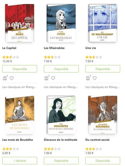 """La collection """"Classiques en manga"""" chez Soleil Manga."""