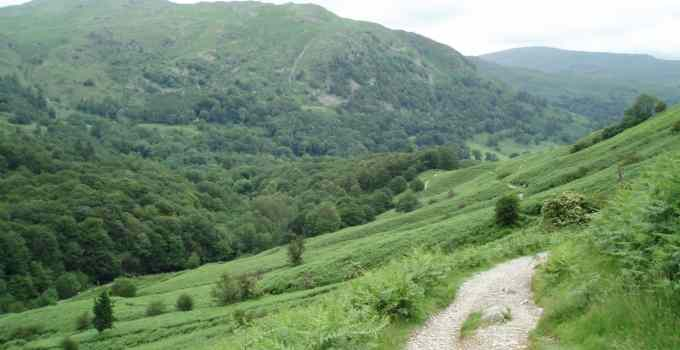Loughrigg, the Langdales and Elterwater, Lake district mountain bike route