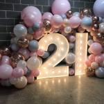 Custom Balloon Arrangement Bubble Moo Balloons