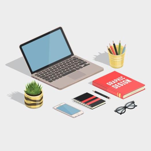 agence de communication, bubbles com, communication freelance, illustration poste de travail