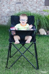 ciao! baby PORTABLE High Chair Review - Sprinkle Some Fun