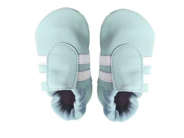 aqua white sport baby leather shoes