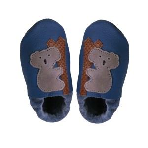blue koalas baby leather shoes