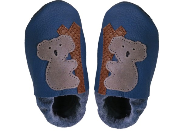 blue koalas baby leather shoes