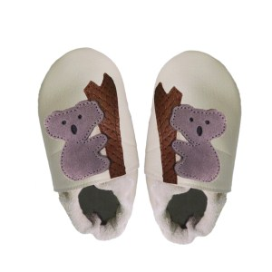 cream koalas baby leather shoes