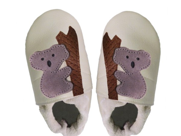 cream koalas baby leather shoes