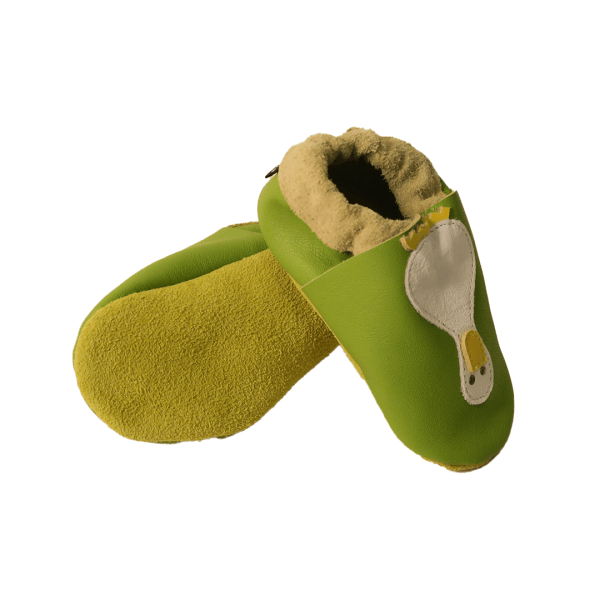 green ducks baby leather shoe soles