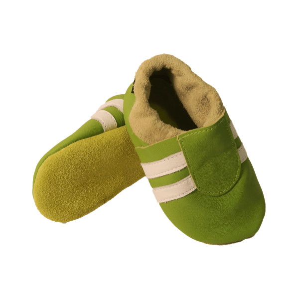 green white sport baby leather shoe soles