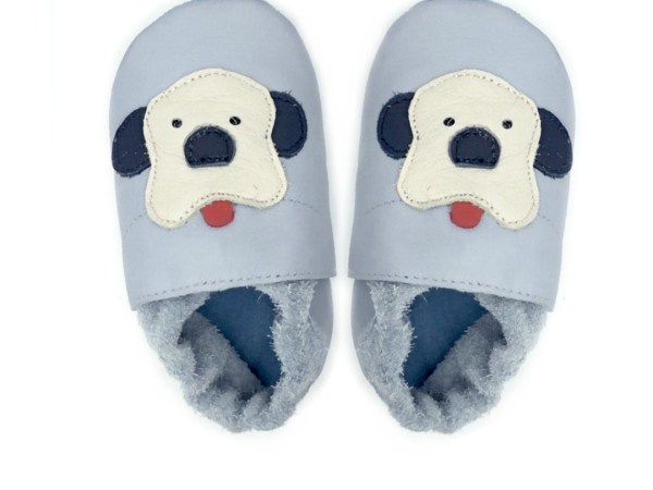 grey_puppies_baby leather shoes