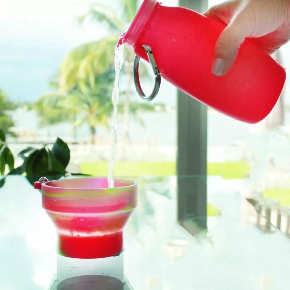 Grades of Green, bpa-free water bottle, bubi bottle, silicone water bottle,