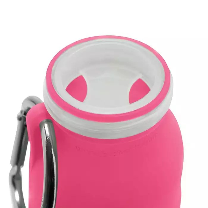 Pink, silicone water bottle, Hydration, collapsible water bottle, Best water bottle, sports bottle, hiking bottle,