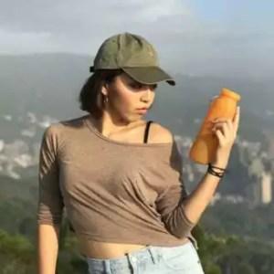 silicone water bottle, orange bottle, travel water bottle