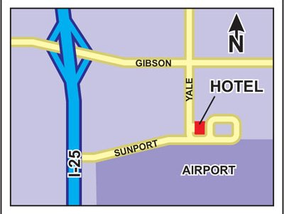 Map to Albuquerque Grand Airport Hotel