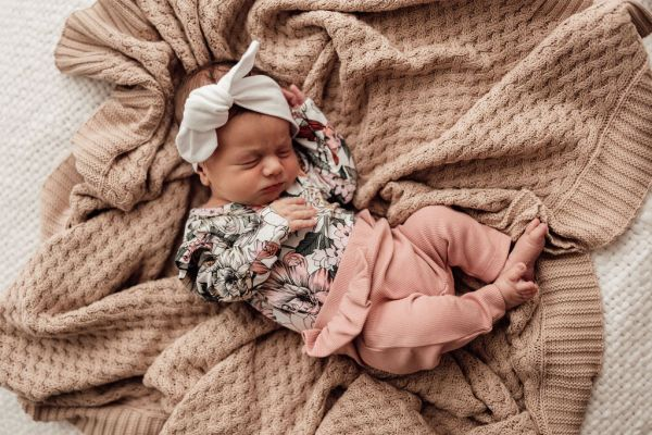 baby pink ribbed rose pants with frill snuggle hunny kids
