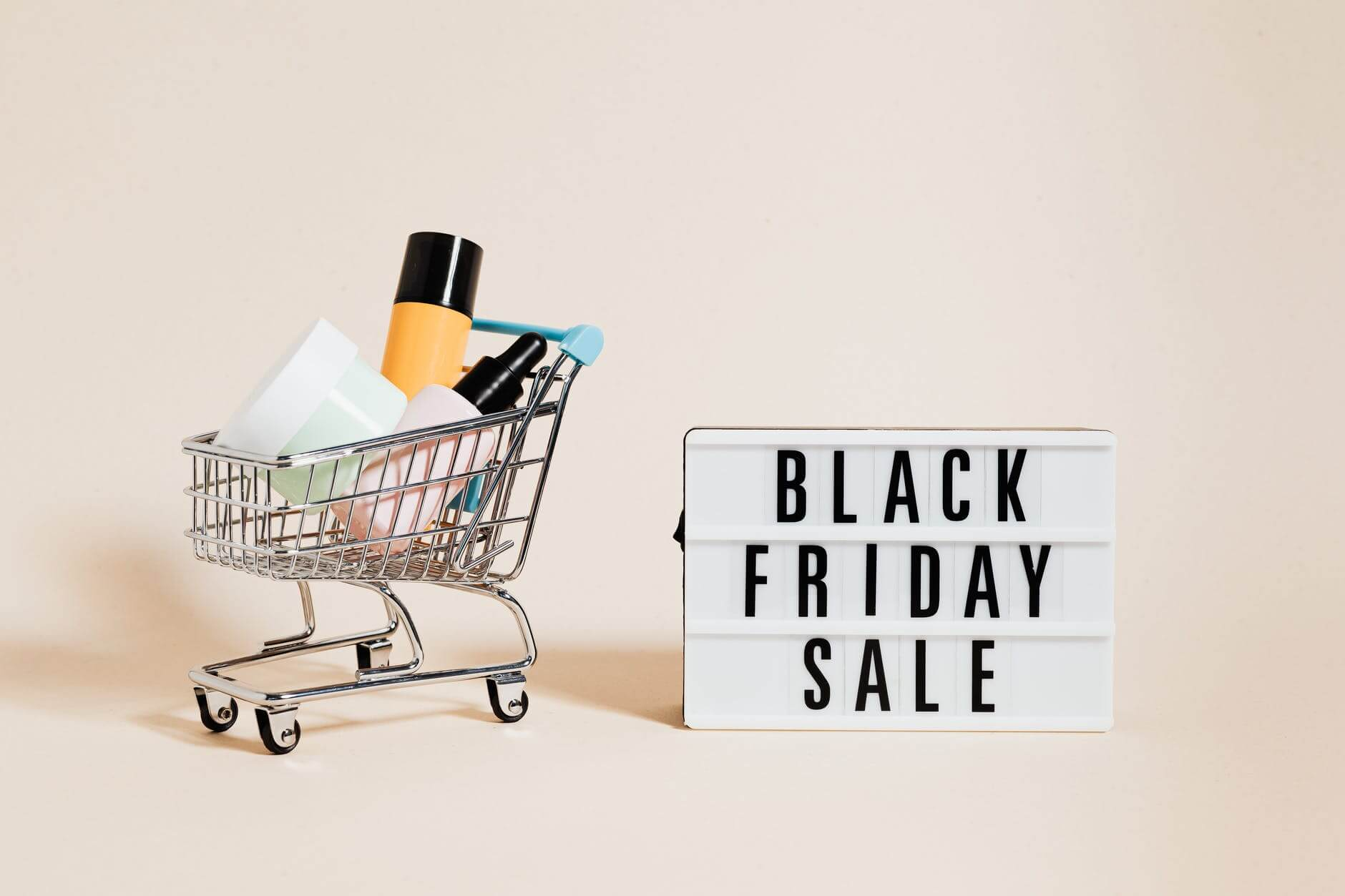 Products in a shopping cart during Black Friday Sale